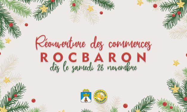 Réouverture des commerces – samedi 28 novembre