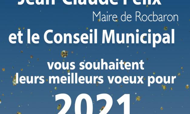 La Municipalité vous souhaite ses meilleurs vœux pour l'année 2021