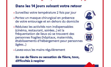 Voici les recommandations sanitaires du Ministère de la Santé concernant le Coronavirus