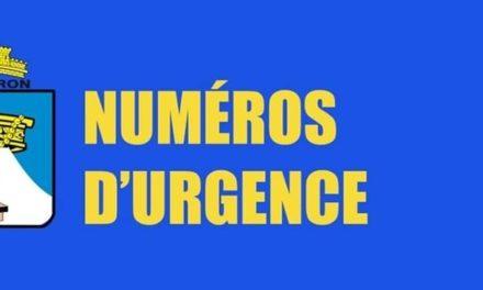 NUMÉROS APPELS D'URGENCE