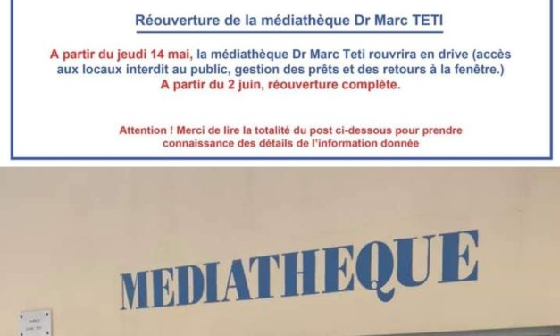RÉOUVERTURE PROGRESSIVE DE LA MÉDIATHÈQUE