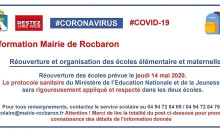 NOS ÉCOLES RÉOUVRENT LE 14 MAI 2020