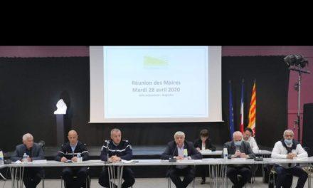 RÉUNION DES MAIRES DE L'AGGLOMÉMATION PROVENCE VERTE AFIN DE PRÉPARER LES MODALITÉS DU DÉCONFINEMENT