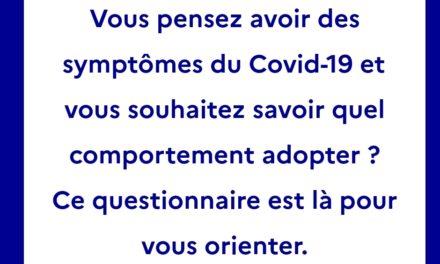 INFORMATION DU GOUVERNEMENT SUR LES SYMPTOMES DU COVID-19